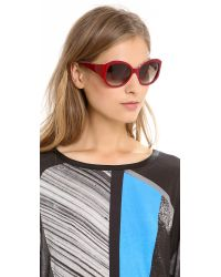 Elizabeth and James Red Kirby Sunglasses