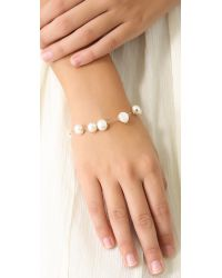 Ginette NY - White Tube Bead Bracelet with Cultured Freshwater Pearls - Lyst