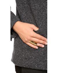 Gorjana | Metallic Camila Beveled Ring Set - Gold | Lyst