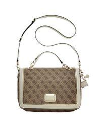 Guess White Guess Handbag Reama Top Handle Flap Shoulder Bag