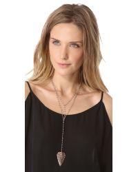 Heather Hawkins | Metallic Arrowhead Double Y Necklace | Lyst
