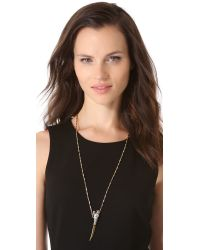 Iosselliani - Metallic Panther Pendant Necklace - Lyst
