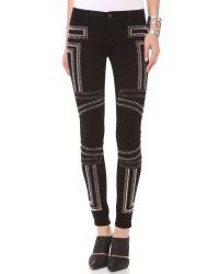 J Brand Black Guinevere Studded Skinny Jeans