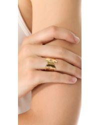 Jennifer Zeuner Metallic Butterfly Eternity Ring