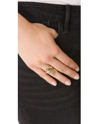 Marc By Marc Jacobs Metallic Toggle Ring