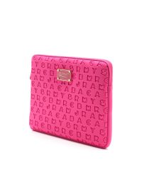 Marc By Marc Jacobs Pink Dreamy Logo Neoprene 13 Computer Case