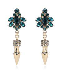 Mawi | Green Spike Crystal Earrings | Lyst