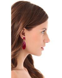 One By | Pink Crown Stone Drop Earrings | Lyst