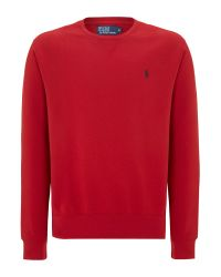 Polo Ralph Lauren Red Classic Crew Neck Sweater for men