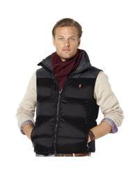 Ralph Lauren Black Snow Polo Core Trek Down Vest for men