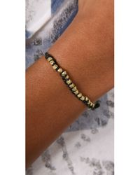 Shashi - Blue Single Petit Golden Nugget Adjustable Bracelet - Lyst