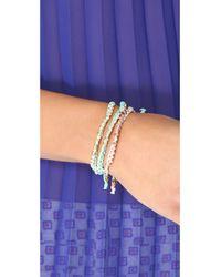 Shashi - Blue Bar Ring - Crystal - Lyst