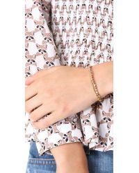 Shashi Natural Rose Gold Nugget Bracelet