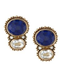 Stephen Dweck | Blue Lapis and Rock Crystal Piggyback Earrings | Lyst