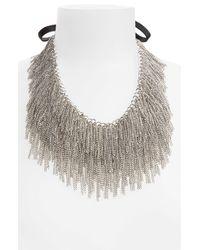 Tasha | Metallic Raining Chains Collar Necklace | Lyst