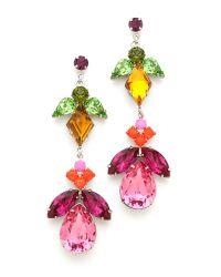 Tom Binns - Metallic Crystal Drop Earrings - Lyst