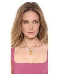 Tom Binns Metallic Neon Crystal Necklace