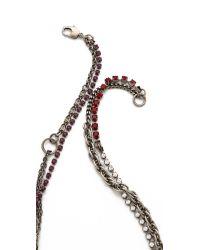 Tom Binns Metallic Calamity Charm Chain Necklace