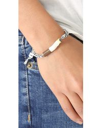 Venessa Arizaga - Metallic Cigarette Bracelet - Lyst
