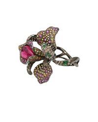 Wendy Yue - Purple Rhodolite Garnet Flower Ring - Lyst