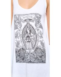 Wildfox - White Mother Winter Tank - Lyst