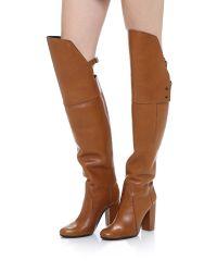 3.1 Phillip Lim Brown Ora Closed Toe Boots - Peanut