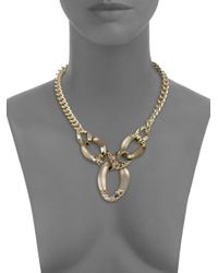 Alexis Bittar - Gray Lucite Crystal Chain Link Necklace - Lyst