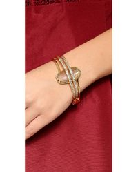 Alexis Bittar - Metallic Double Ringed Labradorite Bracelet - Lyst