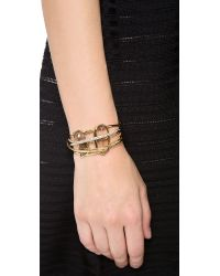 Alexis Bittar - Metallic Five Ringed Cuff Bracelet - Lyst