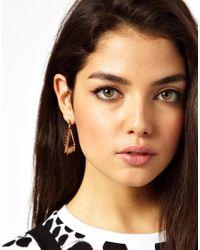 Ashiana Metallic Statement Triangle Spike Earrings