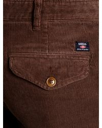 Barbour Brown Joshua Cotton Corduroy Trousers for men