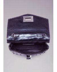 Bebe Purple Ava Quilted Mini Crossbody Bag