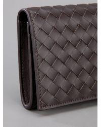 Bottega Veneta Brown Fold Over Wallet