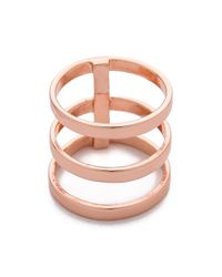 Campbell Pink Tri Bar Ring