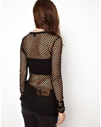 Cheap Monday Black Long Sleeved String Top