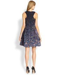 Cynthia Rowley Blue Printed Aline Dress