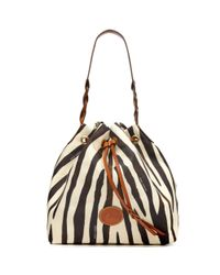 Dooney & Bourke Multicolor Printed Nylon Drawstring Bag
