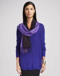 Eileen Fisher Purple Ombre Silkblend Scarf