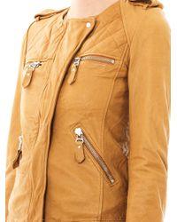 Étoile Isabel Marant Natural Kady Washed-leather Jacket
