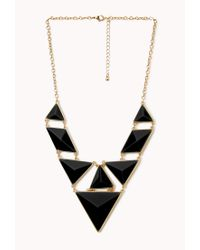 Forever 21 Black Statement Faux Stone Necklace
