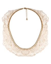 Forever 21 - Natural Lace Trim Necklace - Lyst