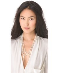 Ginette NY - White Sautoir Necklace with Cultured Freshwater Pearls - Lyst