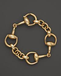 Gucci 18k Yellow Gold Small Horsebit Bracelet