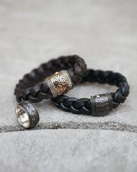 John Hardy - Men's Black Bronze Sapphire Ring for Men - Lyst