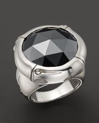 John Hardy - Metallic Batu Bamboo Silver Round Ring With Black Hematite - Lyst