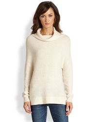 Joie Natural Chesney Wool Cashmere Dolmansleeved Cowlneck Sweater