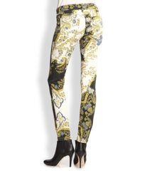 Just Cavalli Black Paisley Crown Print Pants
