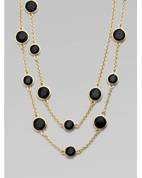 kate spade new york | Black Confetti Scatter Necklace | Lyst