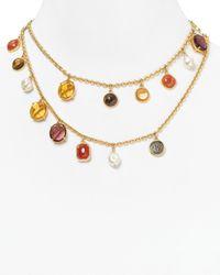 Lauren by Ralph Lauren - Metallic Endless Stones Charm Necklace 34 - Lyst