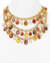 Lauren by Ralph Lauren | Multicolor Endless Stones Drama Necklace | Lyst